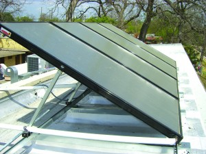 commercial solar water heating system